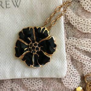 J. Crew Enamel Flower Necklace